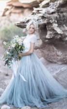 Schönes Spitzentop Mit Kurzen Ärmeln Brautkleid Eine Linie Billiges Hochzeitskleid Twa4092