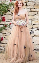 Wunderschönes Schmetterling Brautkleid Schatz Rüschen Brautkleid Twa4292