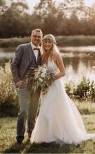 Spitze Mieder Tüllrock Rückenfreies Brautkleid Minimalistisches Hochzeitskleid Twa4392