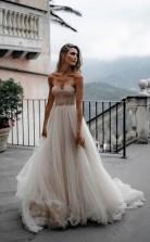 Brautkleid Aus Tüll Mit Herzförmigem Ausschnitt Minimalistisches Brautkleid Twa4402