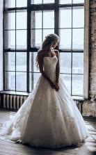 Sweetheart Ballkleid Sweep Zug Tüll Brautkleid Mit Applikationen Twa4422