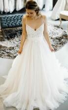 Romantisches Brautkleid Im Prinzessin-stil Mit Spaghetti-trägern Twa5022