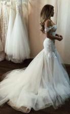 Schulterfreies Meerjungfrau-hochzeitskleid Billiges Brautkleid Twa5102