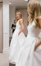Offene Taschen Für Brautkleider A-linie überkreuztes Brautkleid Twa5282