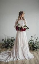 Schiere Lange Ärmel Spitze Bescheidenes Brautkleid Brautkleid Twa5302