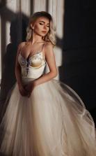 A-linie Träger Bodenlangen Perlen Brautkleid Langes Brautkleid Twa5382