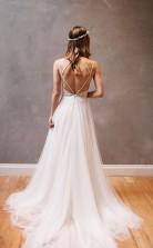 Sweetheart Träger Weißes Chiffon Brautkleid Mit Perlenstickerei Twb2022