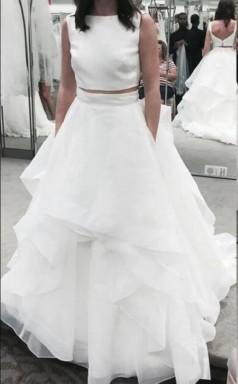 Zweiteiliges Tüll Brautkleid Für Mutter Bräute Geschichtet GBWD203