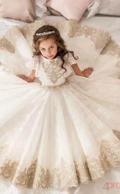 Ballkleid ärmellose Kinder Erste Heilige Kommunion Kleid CH0108