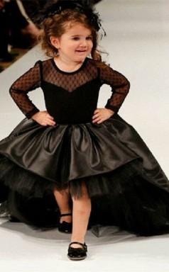 Prinzessin Baby Mädchen Illusion Schwarze Kinder Mädchen Kleid CH0151