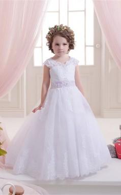 Tüll, Spitze Prinzessin Illusion ärmelloses Brautkleid Chk151