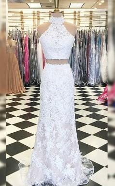 Scheidenspitze Mit Appliziertem Halfterzug Zweiteiliges Kleid JTC19543
