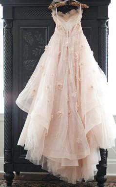 Vintage Trägerloses Herzförmiges Brautkleid Mit Blumentüll-hochzeitskleid Twa1322